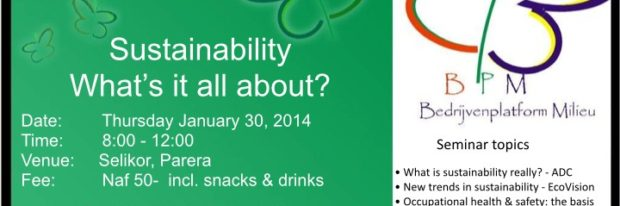 BPM's Sustainability Seminar – JANUARY 2014, 30